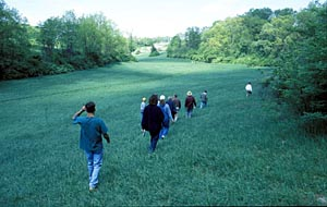 Source: Howard Nuernberger. People have always enjoyed exploring the terrain of Big Hollow. The Arboretum will preserve this land for future generations of hikers and bird-watchers.