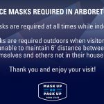 Face Masks Required in Arboretum